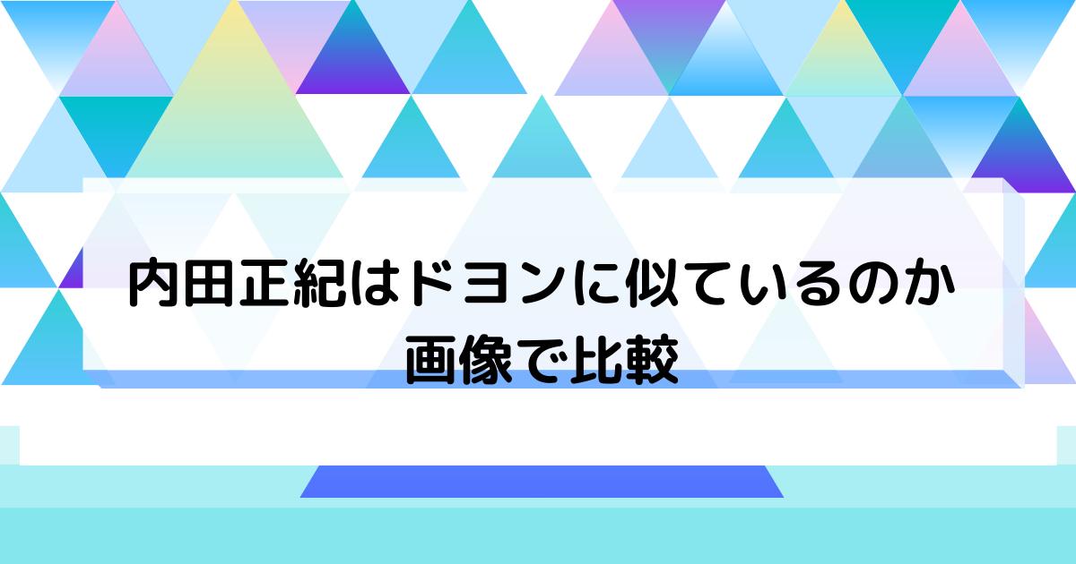 内田正紀はドヨンに似ている