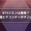 BTSジミンの剣道とテコンドー
